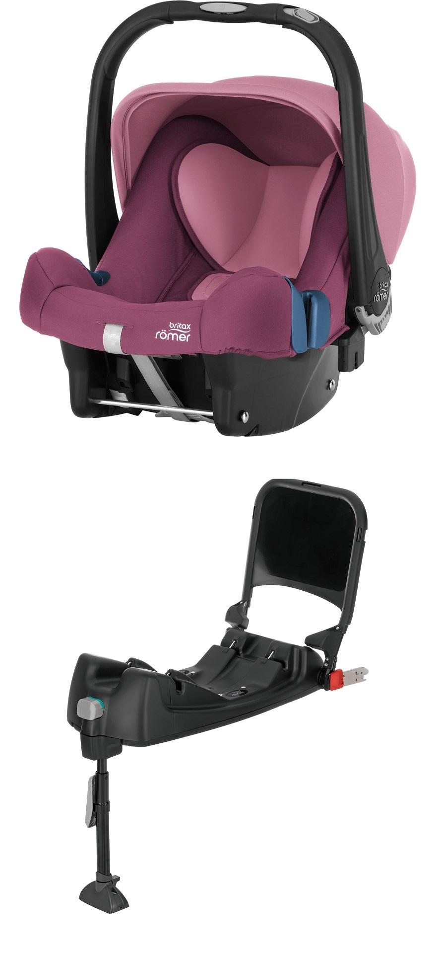 britax r mer infant car seat baby safe plus shr ii including isofix base 2018 wine rose buy at. Black Bedroom Furniture Sets. Home Design Ideas