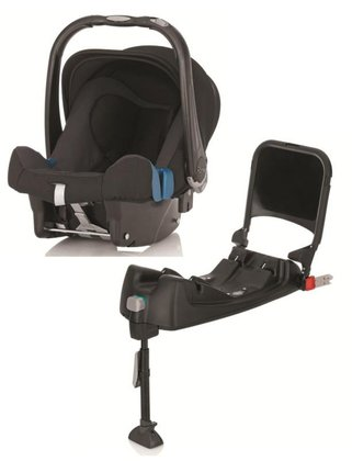 Britax Römer Infant Car Seat Baby-Safe Plus SHR II including Isofix Base Black Thunder 2015 - large image