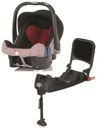 Britax Römer Infant Car Seat Baby-Safe Plus SHR II including Isofix Base Magic Dots 2015 - large image