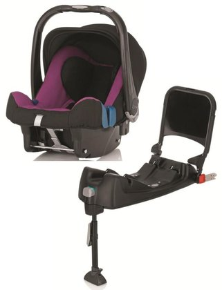 Britax Römer Infant Car Seat Baby-Safe Plus SHR II including Isofix Base Cool Berry 2015 - large image