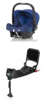 Britax Römer Infant Car Seat Baby-Safe Plus SHR II including Isofix Base Ocean Blue 2017 - large image