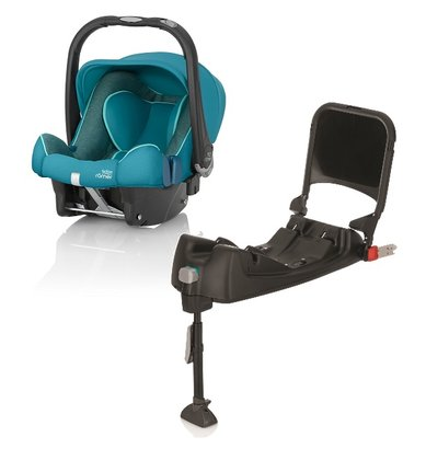 Britax Römer Baby-Safe Plus SHR II Highline incl. Isofix base Green Marble 2017 - large image