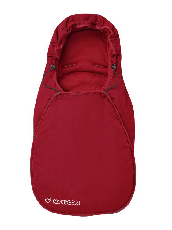 maxi cosi foot muff for infant carrier cabriofix 2016 robin red buy at kidsroom car seats. Black Bedroom Furniture Sets. Home Design Ideas