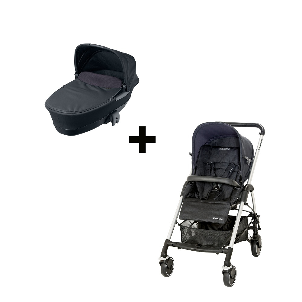 maxi cosi streety plus set 2013 total black buy at kidsroom strollers. Black Bedroom Furniture Sets. Home Design Ideas