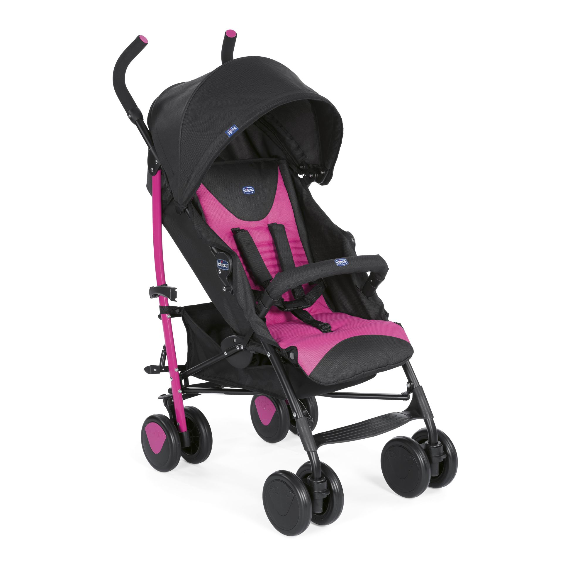 Chicco Echo incl. safety bar 2018 PINK - Buy at kidsroom | Strollers