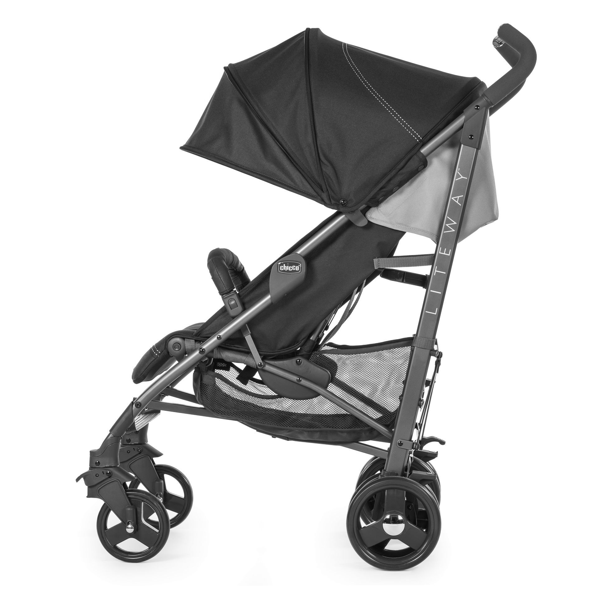 c3251b786 ... 2 Chicco Pushchair Lite Way 3 JET BLACK 2019 - large image 3 ...