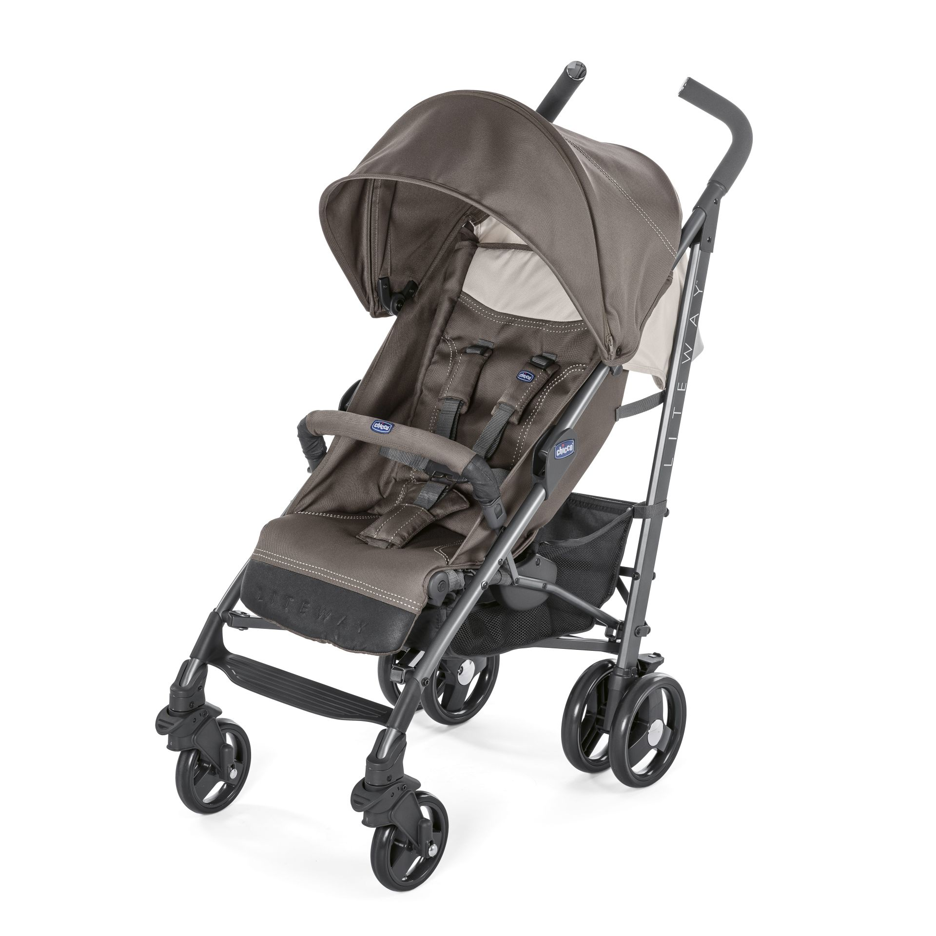chicco lite way 3 pushchair 2018 dove grey buy at kidsroom strollers. Black Bedroom Furniture Sets. Home Design Ideas