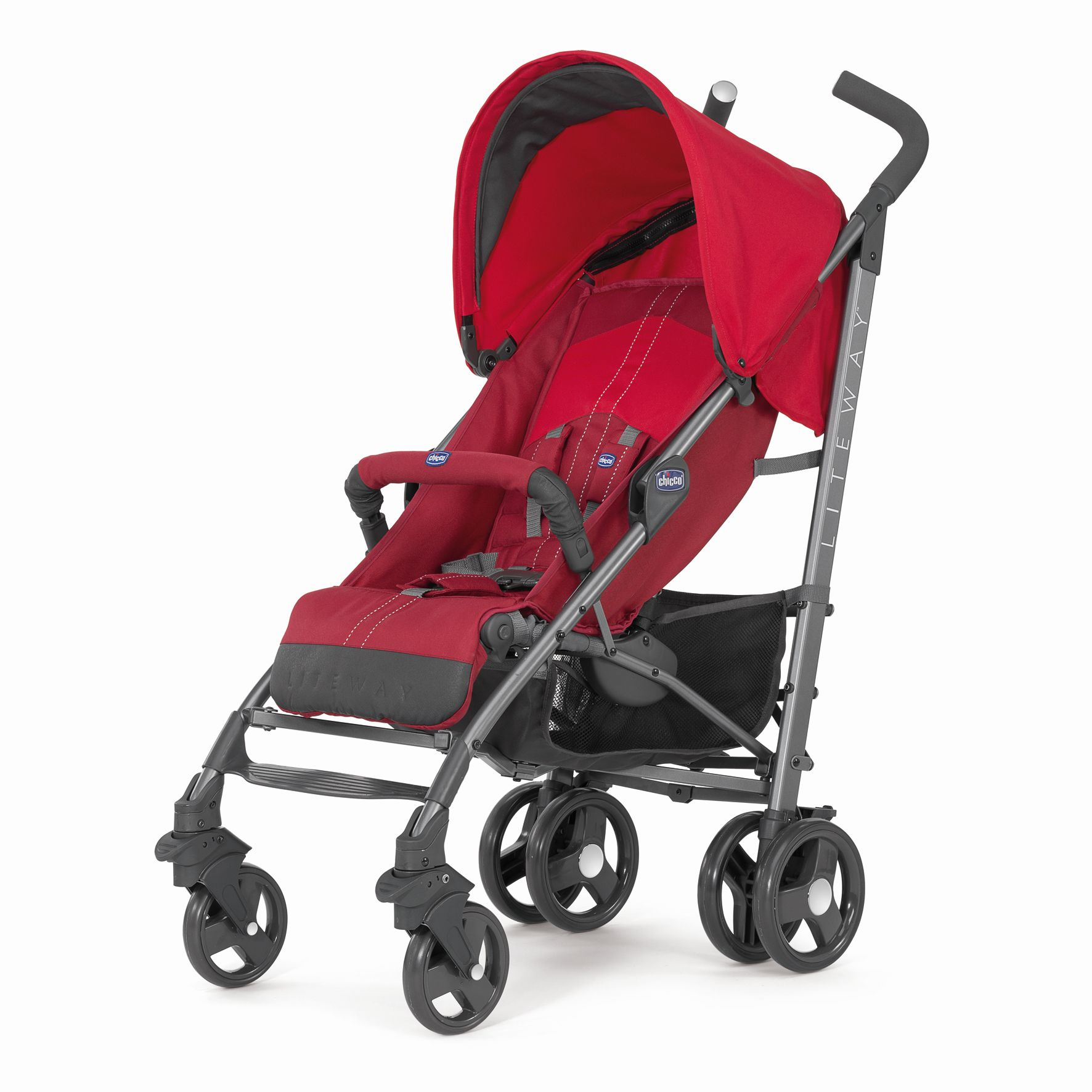 chicco lite way 3 pushchair 2017 red buy at kidsroom strollers. Black Bedroom Furniture Sets. Home Design Ideas