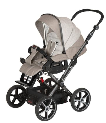 Hartan Pram Topline X - * The Hartan Topline X is equipped with four big wheels and a reversible handle bar* In our Baby-Onlineshop available in all colors of the 2012 collection