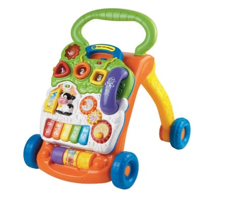 VTech Baby Walker with Game Function - * The VTech baby walker with game function will accompany your sweetheart at its first attempts of standing and walking.