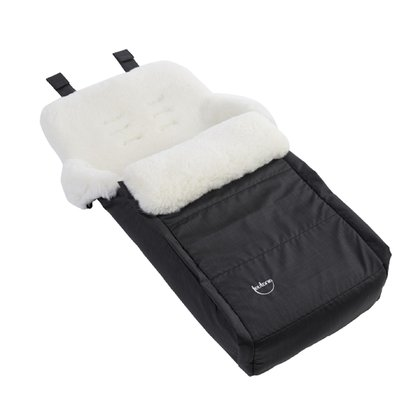Teutonia Real sheepskin foot muff 6000_Schwarz 2016 - large image