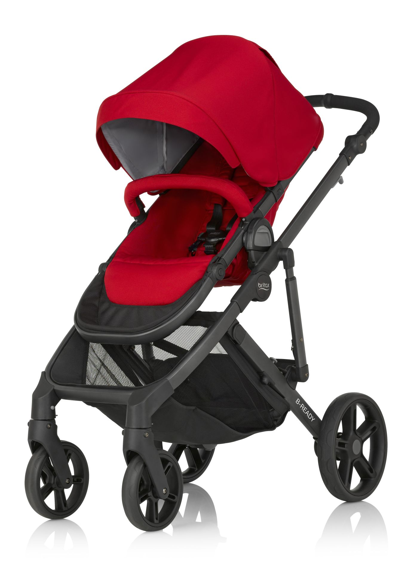 britax r mer b ready 2018 flame red buy at kidsroom strollers. Black Bedroom Furniture Sets. Home Design Ideas