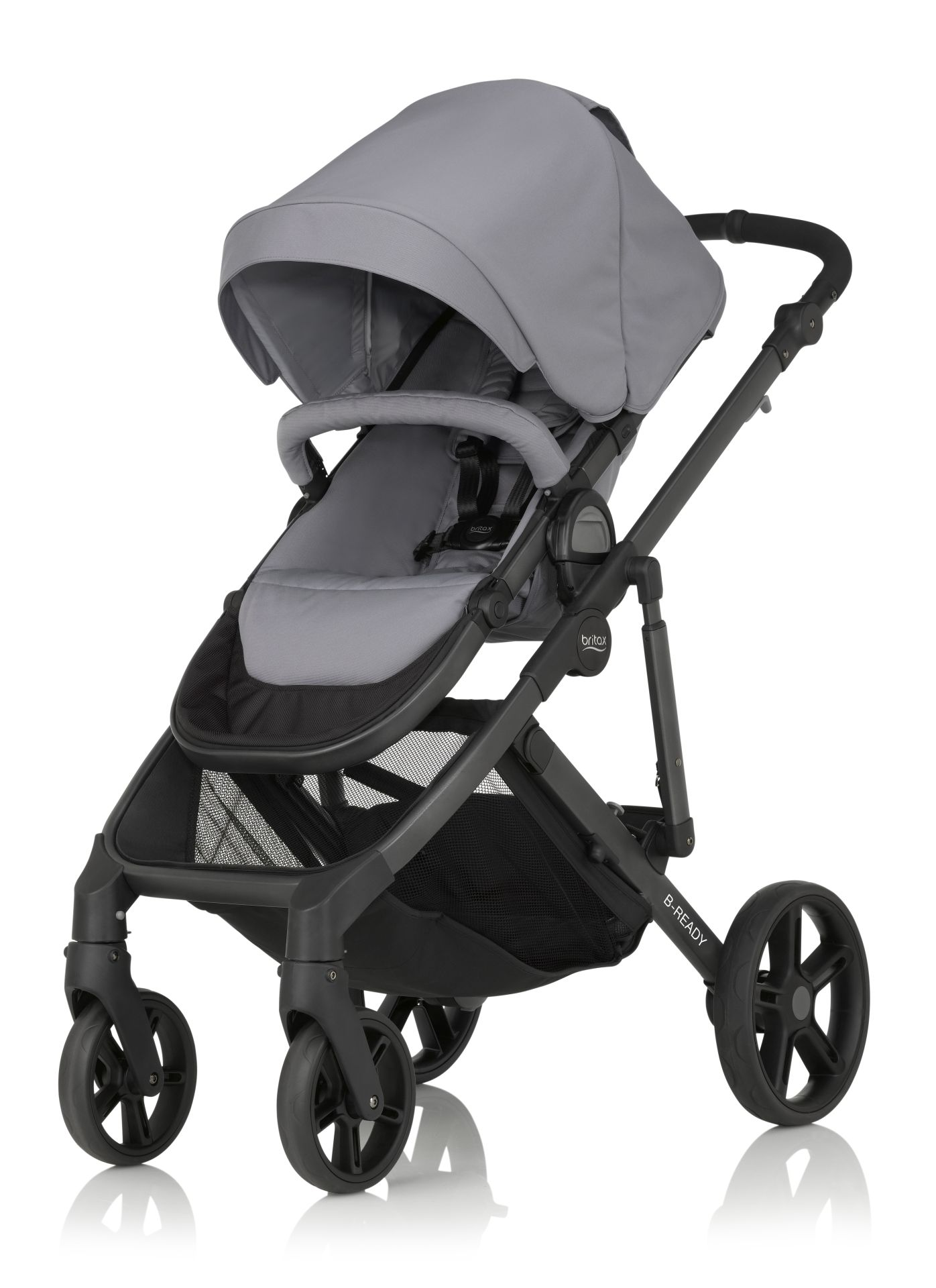 britax r mer b ready 2018 steel grey buy at kidsroom strollers. Black Bedroom Furniture Sets. Home Design Ideas