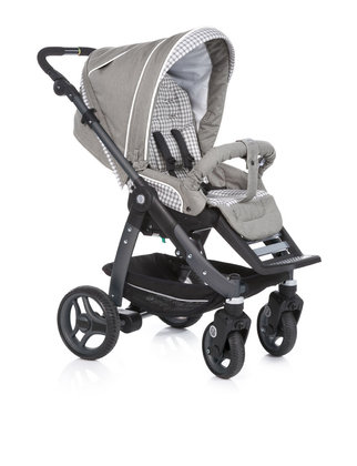 Teutonia Pushchair Cosmo Cool & Classic 4920_Grey Linen 2013 - large image