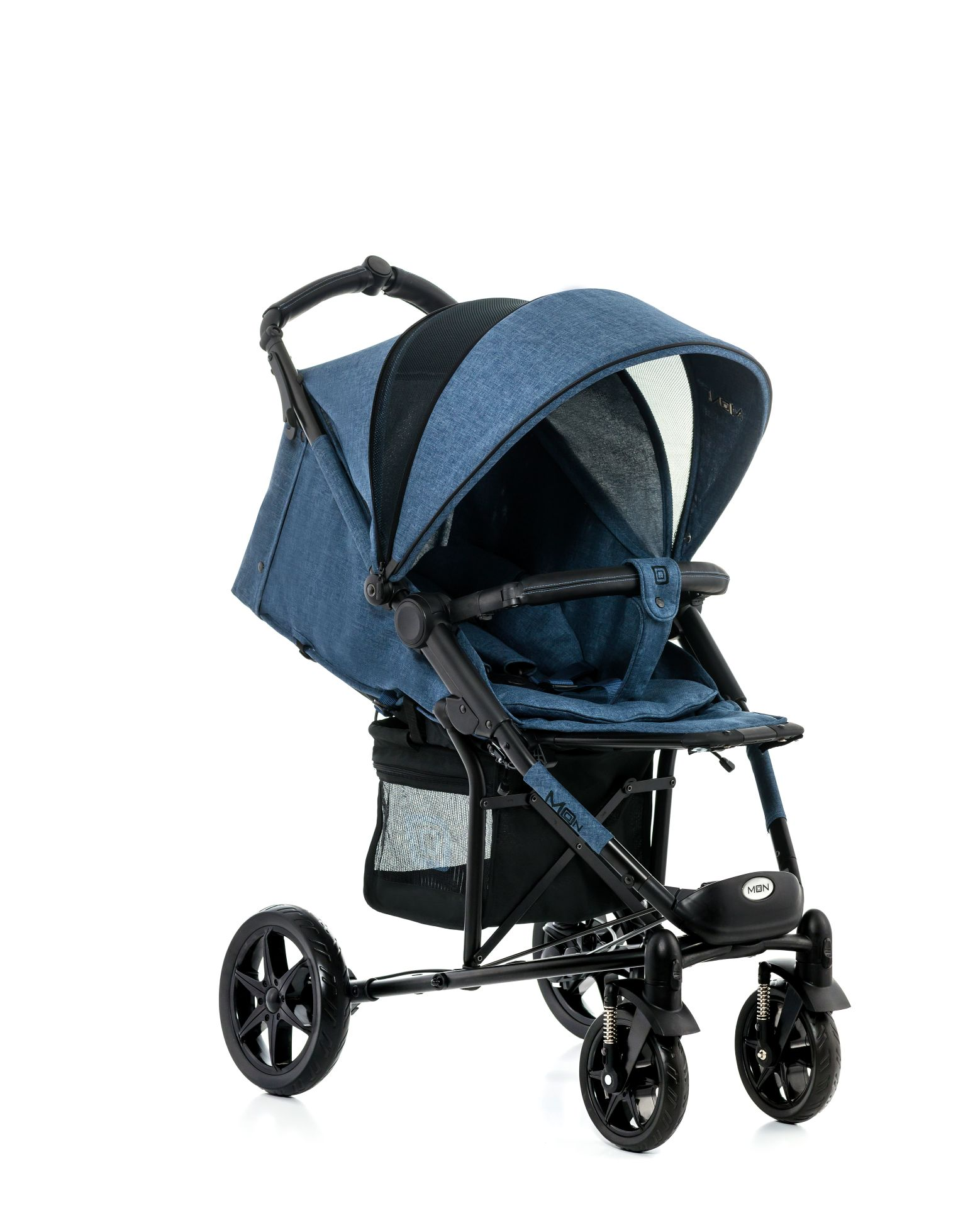 moon buggy flac 2017 blue melange buy at kidsroom strollers. Black Bedroom Furniture Sets. Home Design Ideas