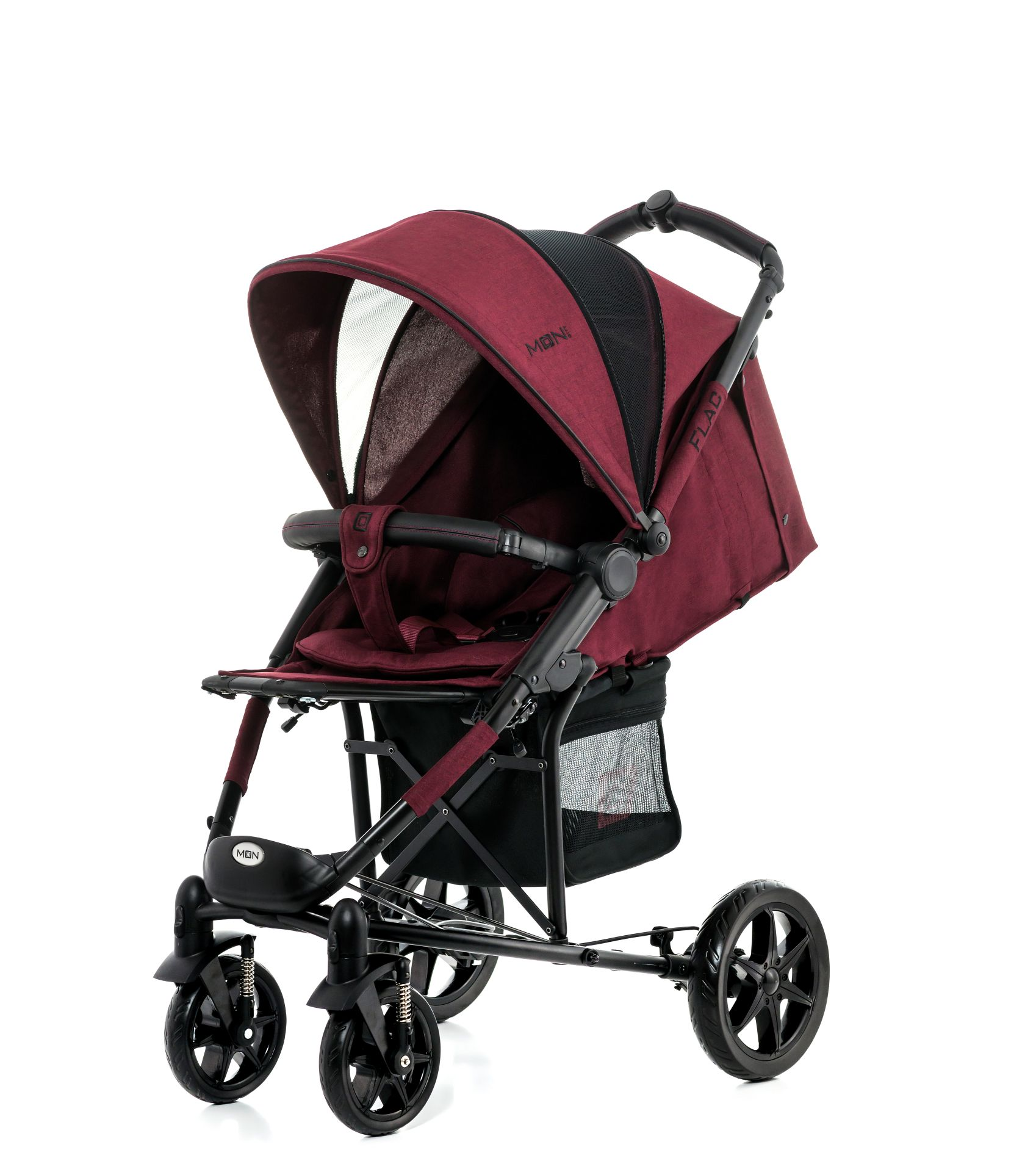 moon buggy flac 2017 bordeaux melange buy at kidsroom strollers. Black Bedroom Furniture Sets. Home Design Ideas
