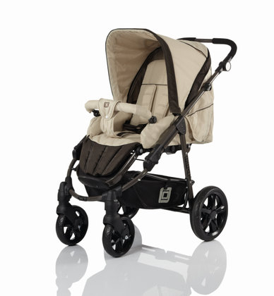 Babywelt Moon pushchair Beat + carrycot Sand & Brown 2013 - large image