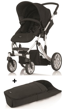 Britax B-SMART 4-wheeler + Britax foot muff for B-SMART Neon Black 2015 - large image