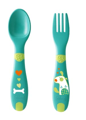 Chicco First Baby Cutlery 12m+ -  * Step by step, your child learns to become more and more independent from an age of about 12 months. This also includes learning to eat.