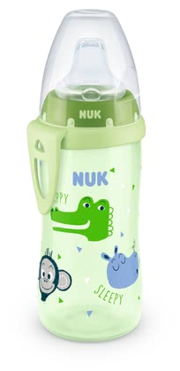 NUK Active Cup with leak-proof Soft Silicone Drinking Spout - * The NUK Active Cup which comes with a leak-proof soft silicone spout, is extremely robust and resilient. The soft spout is ideal for babies at the age of 12 months and up, and helps your little one ease the transition from drinking from a baby bottle to drinking independently from a cup.