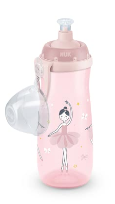 NUK Sports Cup with Practical Push-Pull Silicone Spout -  * The NUK Sports Cup is the ideal drinking bottle for active children at an age of 3 years and up. It is extremely robust and unbreakable. With the Sports Cup your little sunshine can discover the world and test his strengths and skills while playing or doing sports.