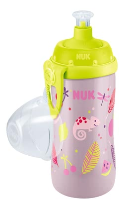 NUK Junior Cup - * The unbreakable NUK Junior Cup is equipped with a push-pull-spout - so that your sweetheart the bottle can by itself open and close