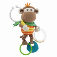 "Chicco Vibrating Rattle Monkey -  * Fun and games in the stroller and home guarantees the cute ""vibrant monkey rattle"" by Chicco."