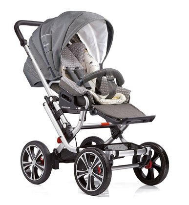 Gesslein F10 Air+ stroller - * The Gesslein F10 stroller offers driving comfort on every kind of road thanks to 4 big wheels