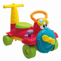 Chicco Ride-On Toy Charly Airplane -  * With the beautifully designed and colorful Charly Ride-on airplane by Chicco your favorite can fly through his nursery and nature.