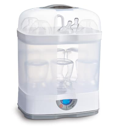 chicco Modular Steam Steriliser »Steril Natural 3-in-1« -  * ✓ Modular system ✓ hot steam sterilisation without chemicals ✓ removes 99.9% of all germs ✓ Compact eco button: saves up to 25% time and energy