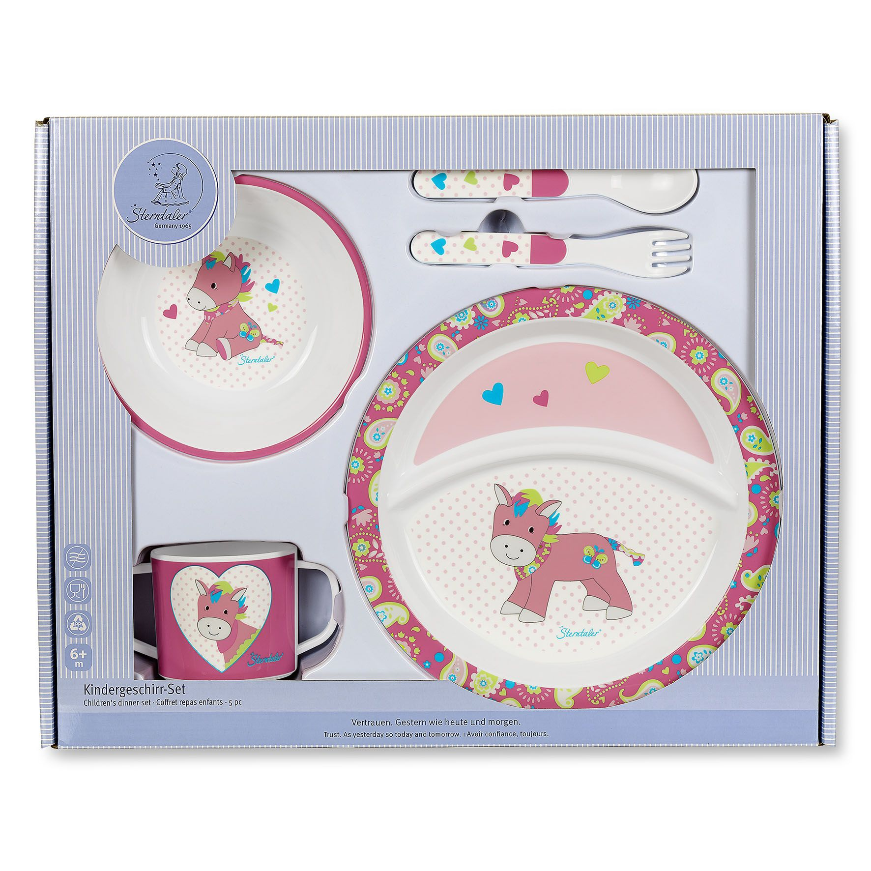 Sterntaler Childrens crockery set Peggy 2017 - large image 1 ...  sc 1 st  Baby products online store - worldwide shipping & Sterntaler Childrens crockery set 2017 Peggy - Buy at kidsroom ...