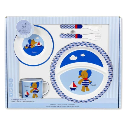 Sterntaler Childrens crockery set - With the four-part Sterntaler children dishes set your sweetheart can learn eating like the grown-ups!