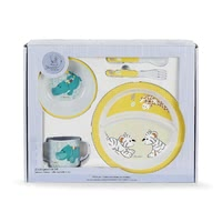 Sterntaler Children's Tableware Set -  * This four-part children's tableware set by Sterntaler helps your child eat like the grown-ups! The cute set comes with a plate, bowl, cup with two handles and cutlery, it is printed with cute Sterntaler animal-motifs and provides much pleasure when eating unaided.