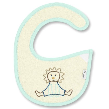 Sterntaler Bib with Velcro Fastener -  * Sterntaler's bib with Velcro fastener is perfect for when things drop down. The moisture-proof plastic side on the bib's back protects your little one's clothes.