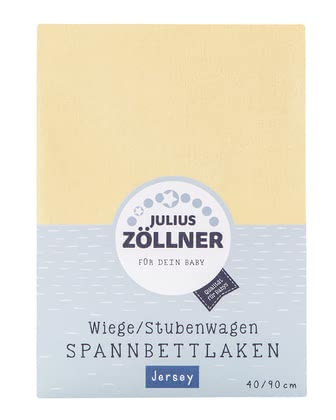 Zöllner Jersey Fitted Sheet for Cradle -  * Featuring a size of 90 x 40 cm, the fitted sheet by Zöllner fits the mattress of your little one's cradle perfectly and ensures peaceful dreams for your child.