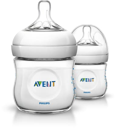 AVENT Natural Baby Bottle Double Pack -  * Based on the model of nature! This trendy baby bottle features an ergonomic shape which makes it super easy for you to hold it. Even your little one can grasp the bottle easily irrespective of its direction.