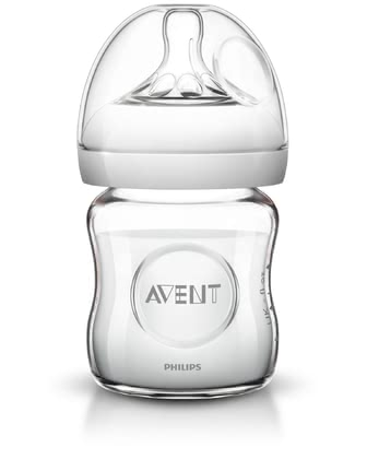 AVENT Natural Glass Bottle -  * The Avent Natural glass bottle makes bottle feeding much more natural for your little one.