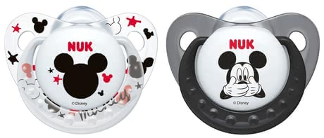 NUK Soother Disney Mickey Trendline, silicone - With the NUK pacifier Disney Mickey soothing is really cool ... All babies have a natural sucking need, even just out of the meals.