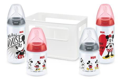 NUK Disney Mickey First Choice+ Starter Set -  * The First Choice+ starter set Disney Mickey by NUK contains all essential baby bottles and teats for a perfect start with your newborn baby.