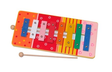 Bieco wooden xylophone - * The Bieco wooden xylophone is equipped with 8 colored chimes and is ideal for the early music education