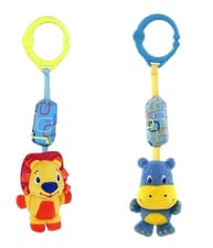 Baby rattle with mounting clip -  * The baby rattle trains the hand-eye coordination and can be easily attached to the cradle or on the crib