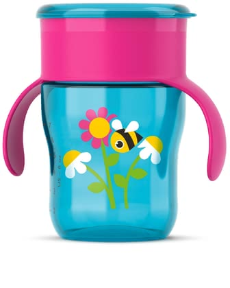 AVENT Grown Up Cup (260 ml) - This adorable cup by the manufacturer Avent quickly and easily supports your little one's first attempts at drinking naturally – such as from a glass.