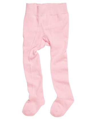 Playshoes tights with comfort waistband, plain rosa 2014 - large image