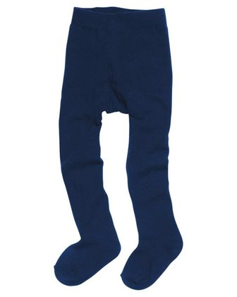 Playshoes thermal tights, plain marine 2016 - large image