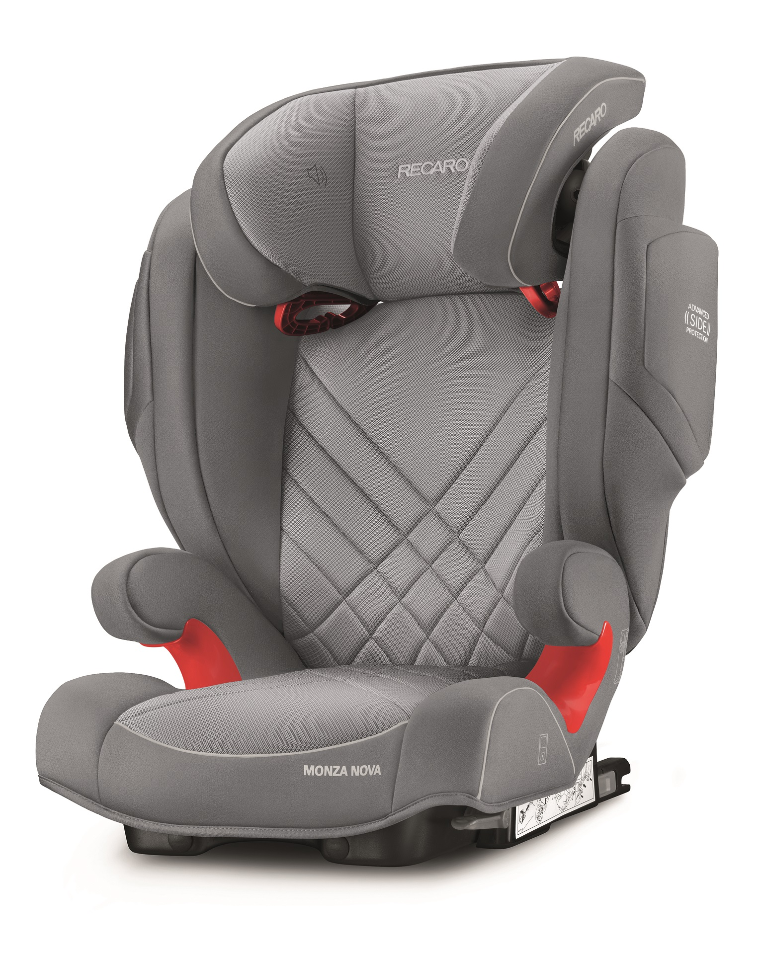 recaro child car seat monza nova 2 seatfix 2018 aluminium grey buy at kidsroom car seats. Black Bedroom Furniture Sets. Home Design Ideas