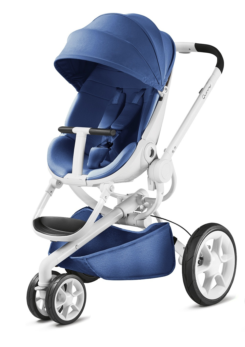 quinny moodd stroller 2018 blue base white buy at. Black Bedroom Furniture Sets. Home Design Ideas