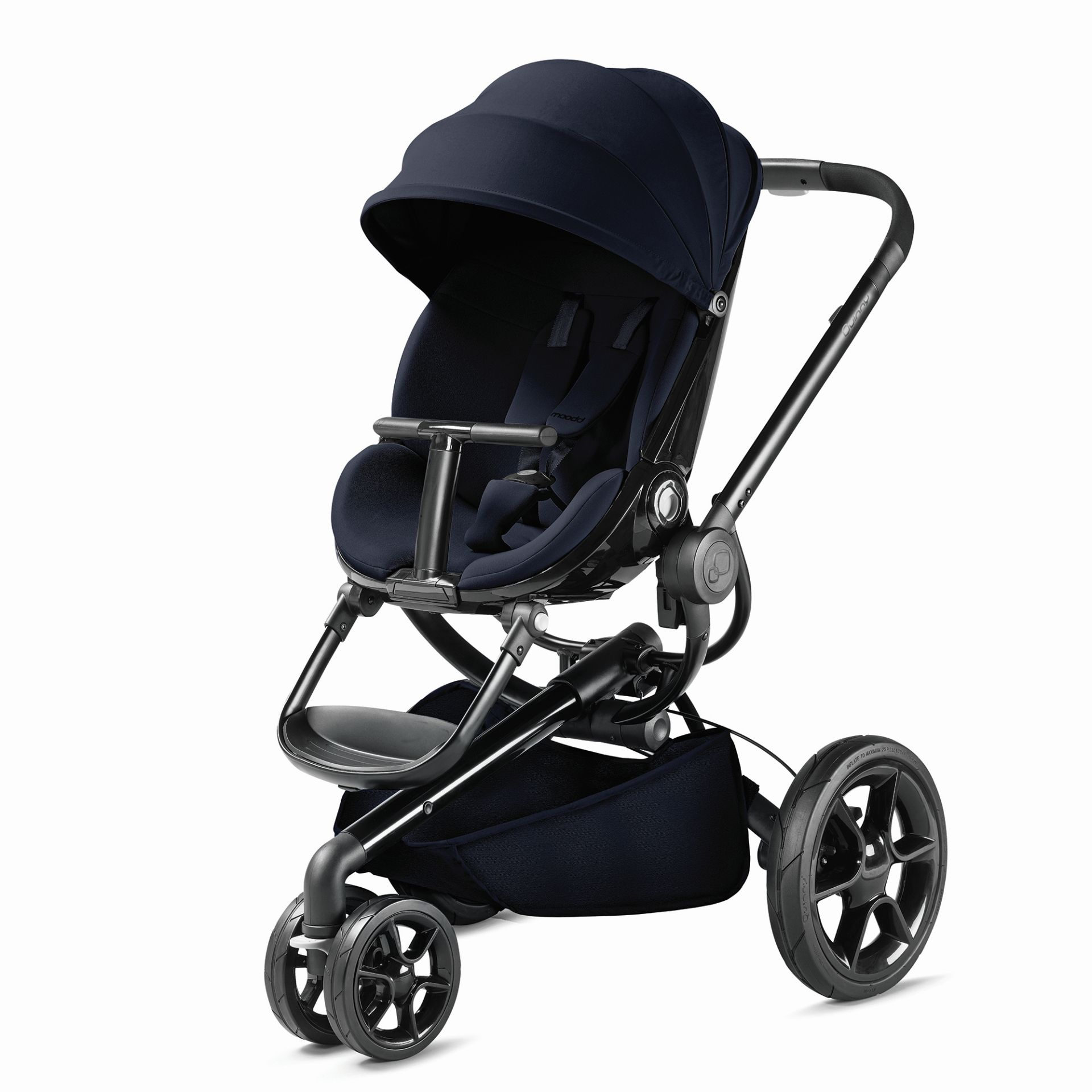 Quinny Moodd Pushchair In Blue Base With Maxi Cosi: Quinny Moodd Stroller 2019 Midnight Blue