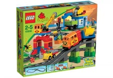 LEGO Duplo Train Super Set - * The train super-set by LEGO Duplo consists of 134 parts, encourages the creativity and provides a lot of playing-fun