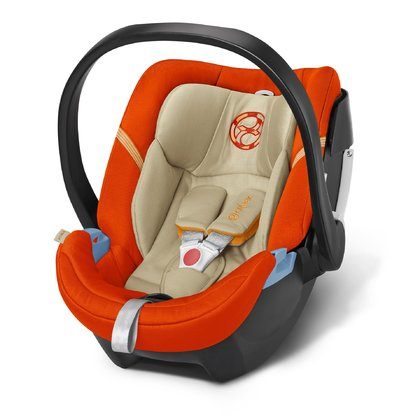 Cybex Infant carrier Aton 4 Autumn Gold - burnt red 2016 - large image