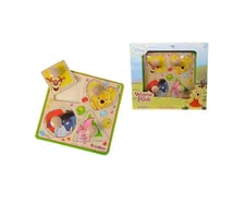 Eichhorn - Winnie the Pooh shapes-Puzzle - * The Eichhorn Winnie the Pooh shapes puzzle consists of 4 plug-in parts and is suitable for your little treasure from the age of 1 year